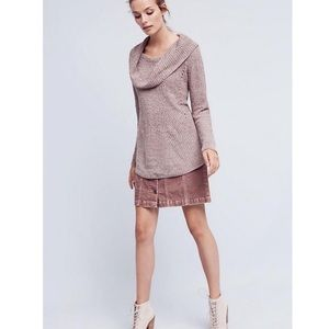 Moth Anthropologie Taupe Chenille Lucerne Sweater